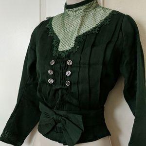 1800s Victorian Green Bodice